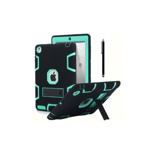 Aicase Ipad 2/3/4 Shockproof Military Heavy Duty Rubber With Hard Stand Case Black/Green
