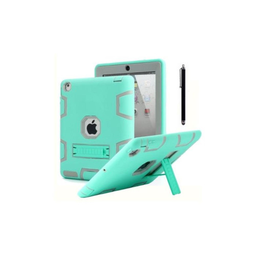 Aicase Ipad 2/3/4 Shockproof Military Heavy Duty Rubber With Hard Stand Case Green/Gray