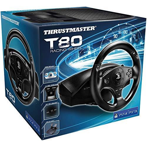 Thrustmaster T80 Racing Wheel (Ps4, Pc) Works With Ps5 Games