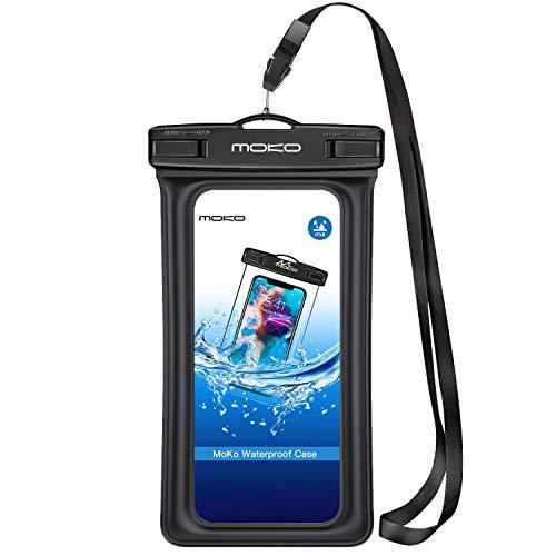 Moko Floating Waterproof Phone Pouch Holder, Floatable Phone Case Dry Bag With Lanyard Armband Compatible With Iphone 12 Mini/12 Pro, Iphone 11 Pro, Xr/Xs Max,8/7, Samsung S21/S10/S9/S8, A10E, Note 10