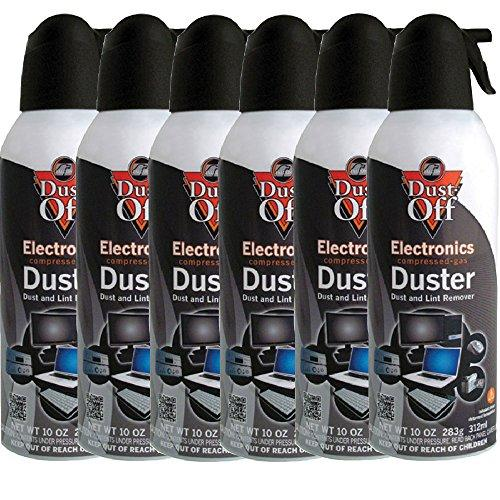 Dust-Off Compressed Gas Duster, Pack Of 6