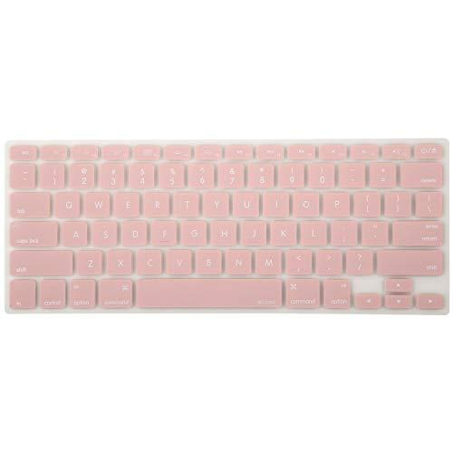 Mosiso Silicone Keyboard Cover Compatible With Macbook Air 13 Inch A1466 A1369 2010-2017&Compatible With Macbook Pro 13/15 Inch (With/Without Retina Display, 2015 Or Older Version), Rose Quartz