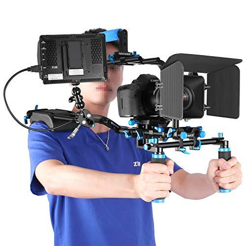Neewer Film Movie Video Making System Kit With F100 7-Inch 1280X800 Ips Screen Field Monitor (Support 4K Input) And Ballhead Arm For Dslr Cameras Video Camcorders (Battery Not Included)