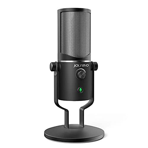 Usb Microphone Computer Cardioid Mic, Jounivo Pc Laptop Condenser Mic With Mute Button & Volume Control For Studio Recording Vocals, Youtube, Streaming Broadcast, Podcasting, Skype(Jv901)