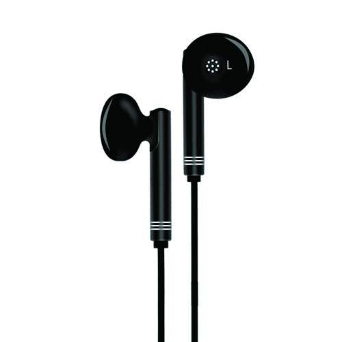 Un-Tech Wired in-Ear Headphone with 3.5mm Jack & Mic for All Smartphones Iphones-GH59 (Black) (PACK OF 2)