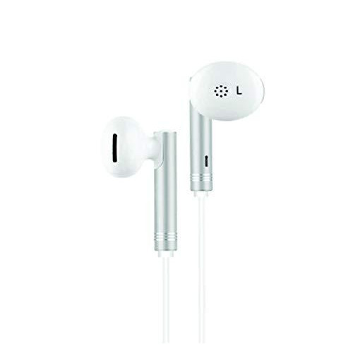 Un-Tech Wired Earphone Headphone with 3.5mm Jack & Mic for All Smartphones Iphones-GH59 (White) (PACK OF 2)