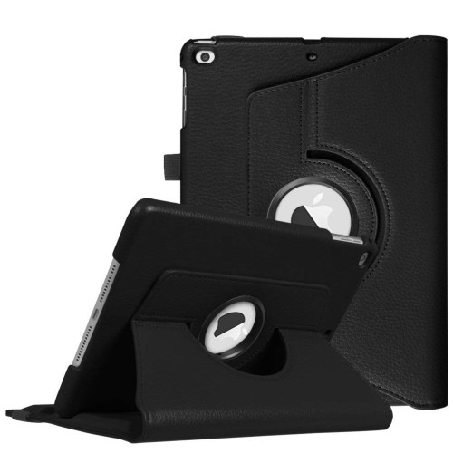 Apple IPad Air 1st / A1474 / A1475 Tablet PU Leather Folio 360 Degree Rotating Stand Case Cover Black