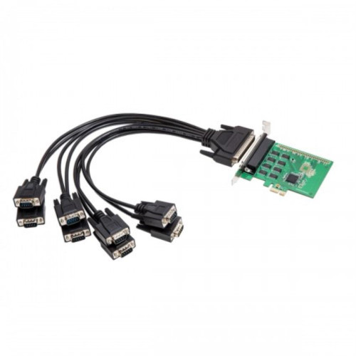 PCIe 2.0 8x Port Serial RS232 Card, Compatible with 16C550 UART, Fan-Out Cable, Exar XR17V358 Chipset