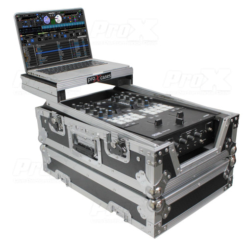"ProX XS-RANE72LT 11"" DJ Mixer Road Case W/Laptop Shelf<br>for Rane Seventy-Two 72 and Rane Seventy"