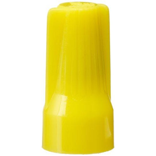 Morris Products 23354 Easy Cap Wire Connector, Type, Yellow, 10 - 22 Awg, max: 3 #12 min: 4 #22 Wire Combinations