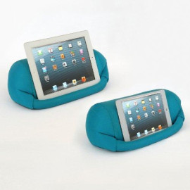 Lap Pro - Mini, Universal Beanbag Lap Stand For Ipad Mini 1,2,3,4, Ipad Air, Ipad 1, Ipad 2, Ipad 3, Ipad 4, Kindle, Galaxy, Xoom, Acer, Nexus 7 & All Android Tablets, E-Readers, Books & Magazines - Bed, Couch, Travel - Adjustable Angle; 0 - 89 Deg. - Blu