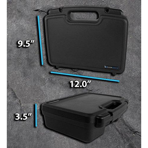 STURDY Portable Pico Projector Carrying Hard Case with Diced Foam fits AAXA P5 , P300 , P700 , P4X , IVATION , Philips , Brookstone Portable Projectors, Mini Tripod , Charger , and Small Accessories
