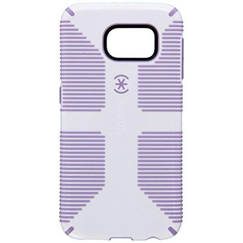 Speck Products Candyshell Grip Case For Samsung Galaxy S6 - Retail Packaging - White/Heather Purple