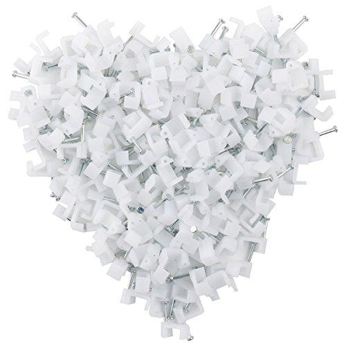Ethernet Cable Clips Jadaol White 200 Pieces For Cat7 Cables - 7Mm
