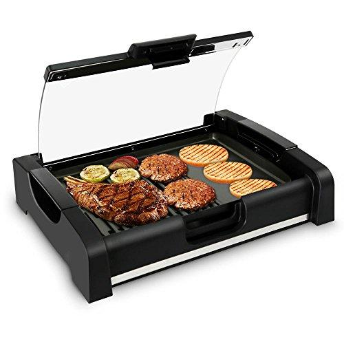 Electric Griddle - Crepe Maker Hot Plate Cooktop with Glass Lid