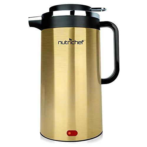 Electric Water Kettle - Cordless Water Boiler, Stainless Steel (Gold)