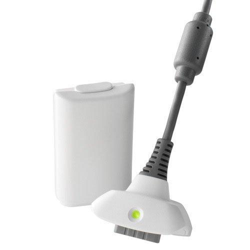 Xbox 360 Play Charge Kit - White Battery And Charging Cable (Generic)