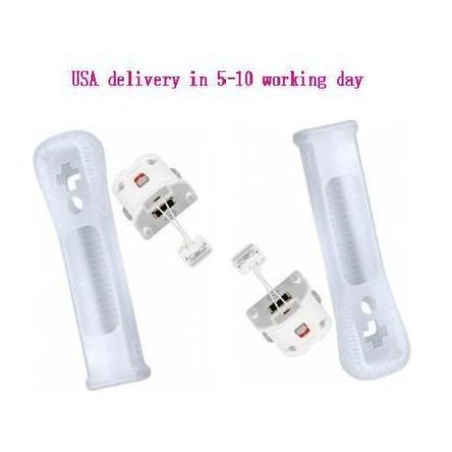 Wii Motion Plus Adapter For Original Nintendo Wii Remote Controller(White,Set...