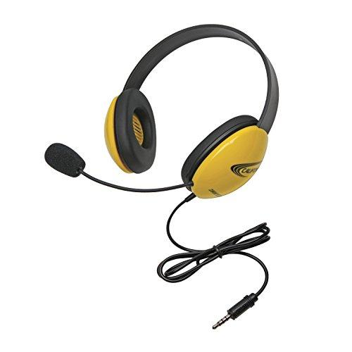 Califone 2800-Ylt Headset With To Go Plug, Yellow, For Use With Smartphones And Tablet