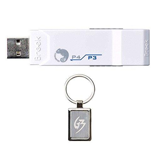 Gam3Gear Brook Super Converter Ps3 To Ps4 Controller Gaming Adapter With Gam3Gear Keychain
