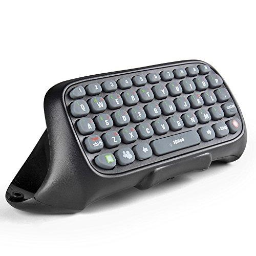 Tnp Xbox 360 Controller Keyboard - Wireless Mini Live Text Messenger Chatpad Keypad Adapter For Xbox 360 Gamepad Game Gaming Controller (Black) [Xbox 360]