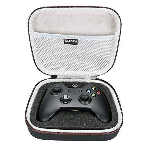 Ltgem Eva Hard Case Travel Carrying Portable Storage Bag For Xbox One/Xbox One S/Xbox One X Controller With Mesh Pocket Fits Plug Cables