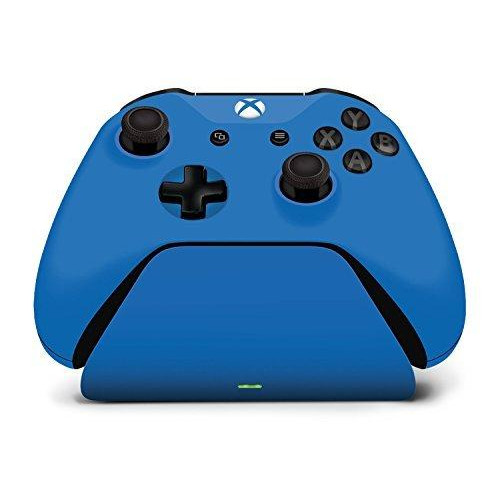 Controller Gear Xbox Pro Charging Stand Photon Blue. For Xbox Elite, Xbox One And Xbox One S Controller. Exact Color Match. Officially Licensed And Designed For Xbox - Xbox One