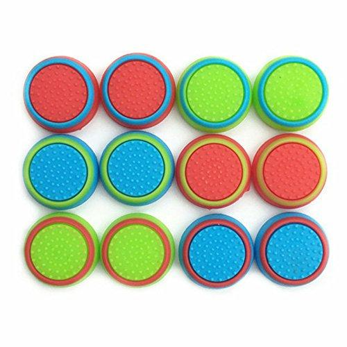 Pack Of 12Pcs JH Thumb Grip Thumbstick Noctilucent Sets For Ps2, Ps3, Ps4, Xbox 360, Xbox One Controller [Video Game Accessory]