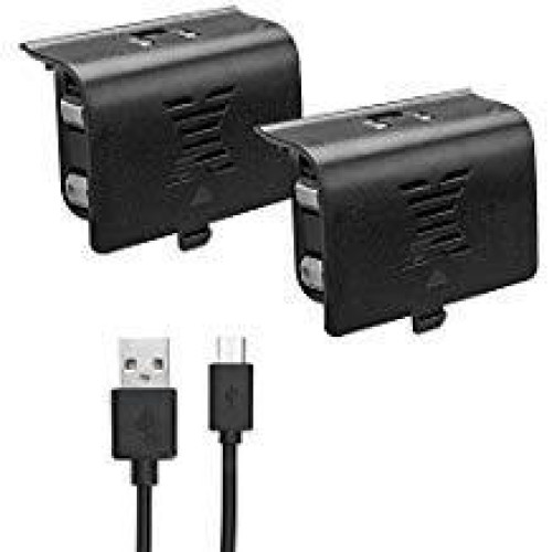 Xbox One Battery Pack 800Mah (2-Pack) Rechargeable Ni-Mh Compatible With Xbox One S/Xbox One X/Xbox One Elite