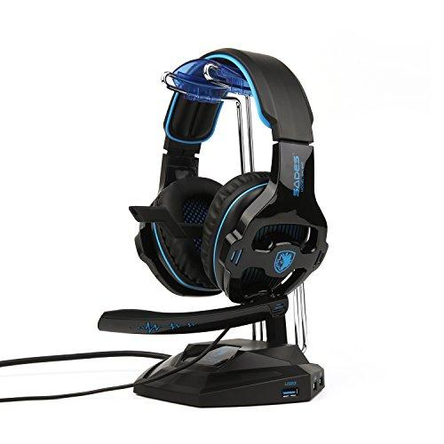 2018 Newest Sades Sa810 Gaming Headset Over Ear Stereo Headphones Bass Gaming Headphones With Noise Isolation Microphone Volume Control For Xbox One Ps4 Pc Laptop Mac Mobile