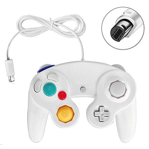 Tnp Gamecube Controller Nintendo Gc And Wii Compatible Gamecube Video Game Console Remote Classic Wired Gaming Joystick Gamepad Joypad Ngc Replacement Accessories (2 Pack, White)