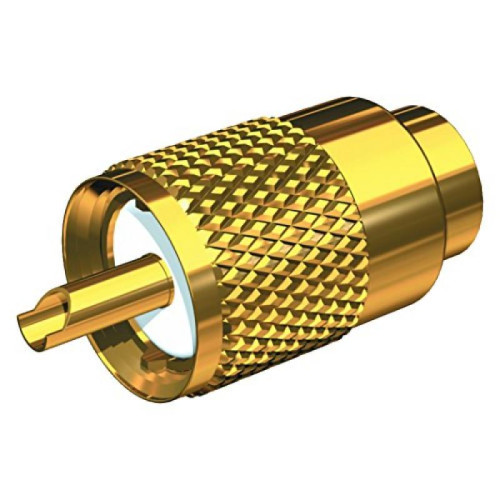Shakespeare PL-259-58-G Gold Solder-Type Connector w/UG175 Adapter & DooDad Cable Strain Relief f/RG-58x