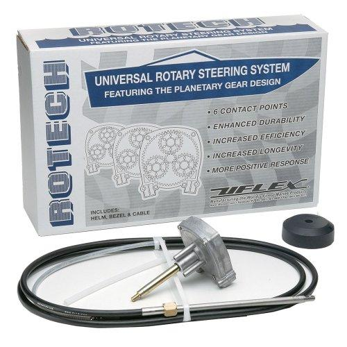 UFlex Rotech 17' Rotary Steering Package - Cable, Bezel, Helm