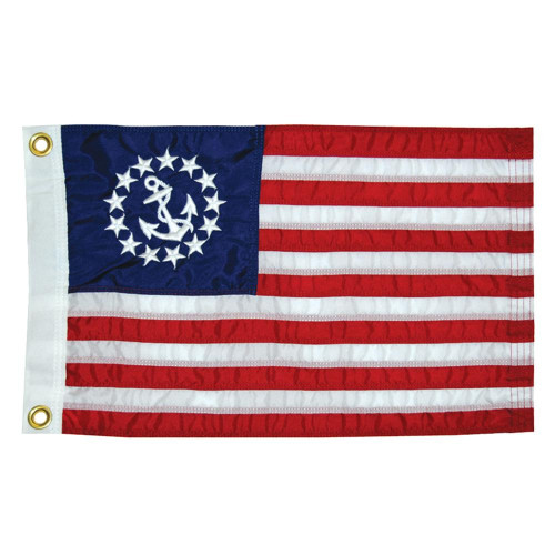 """Taylor Made 12"""" x 18"""" Deluxe Sewn US Yacht Ensign Flag"""