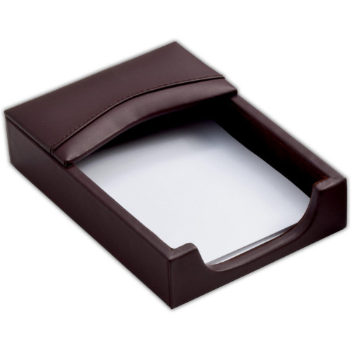 Chocolate Brown Leather 4 x 6 Memo Holder