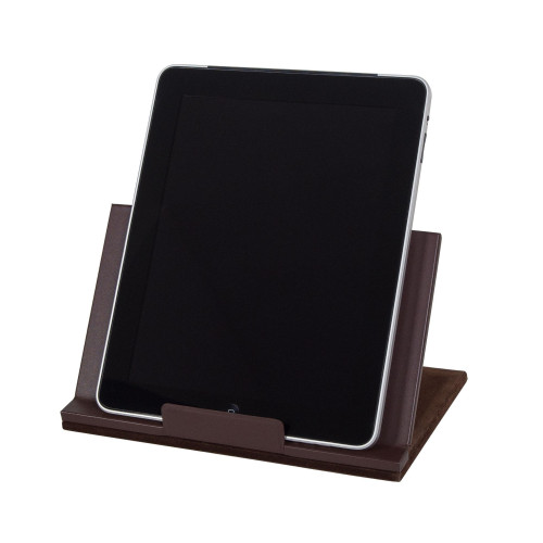 Classic Leather Tablet Stand-Chocolate Brown