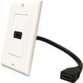 DataComm Decor Wallplate Insert (HDMI Connector & Pigtail)