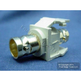 Leviton QuickPort BNC Female to Female Snap-In Connector (Gold Plated), Ivory