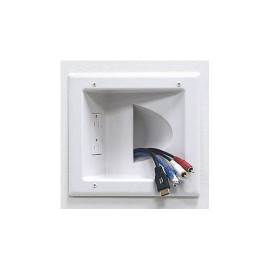 DataComm Recessed Media Plate with Duplex Receptacle