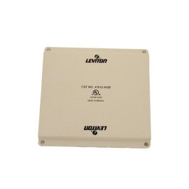 Leviton Structured Media Center Universal Security Plate, Half Width