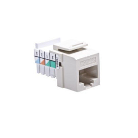 Leviton QuickPort Home 5e Snap-In Connector, Light Almond