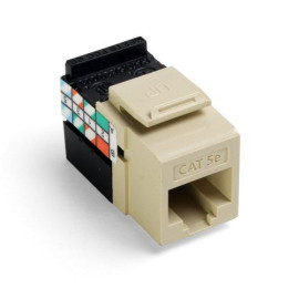 Leviton QuickPort GigaMax 5e Snap-In Connector, Ivory