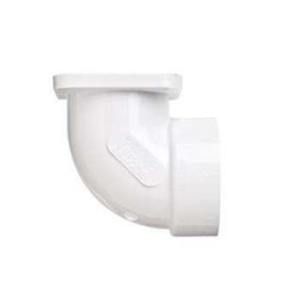 NuTone Central Vacuum 90 Degree Flanged Ell Fitting