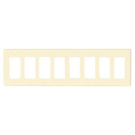 OEM Systems Pro-Wire Decorator Wallplate, 8-Gang, Almond