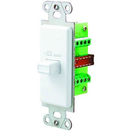 OEM Systems Pro-Wire Speaker Switch Plate (A/B), White