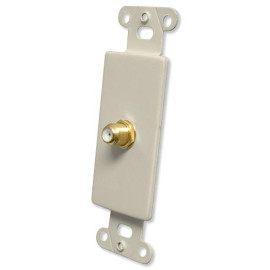 OEM Systems Pro-Wire Jack Plate (1 Coax), Almond