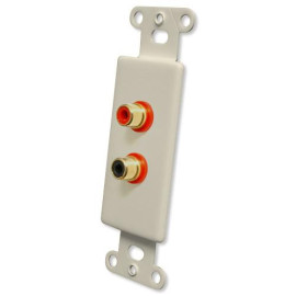 OEM Systems Pro-Wire Jack Plate (2 RCA), Ivory