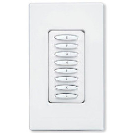 PCS PulseWorx UPB Wall Controller, 8 Button, White