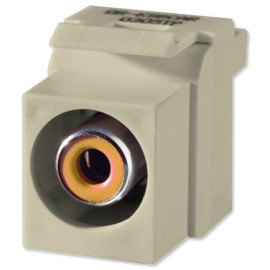 On-Q/Legrand Yellow RCA To RCA Keystone Connector, Ivory