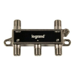 On-Q/Legrand 4-Way Digital Cable Splitter with Coax Network Support